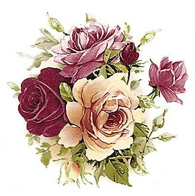 Pink Yellow Rose Bouquet Flowers Select-A-Size Waterslide Ceramic Decals Bx ()