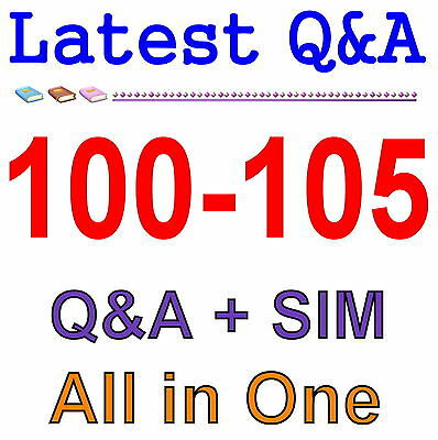 Cisco Best Practice Material For 100-105 Exam Q&A PDF+SIM