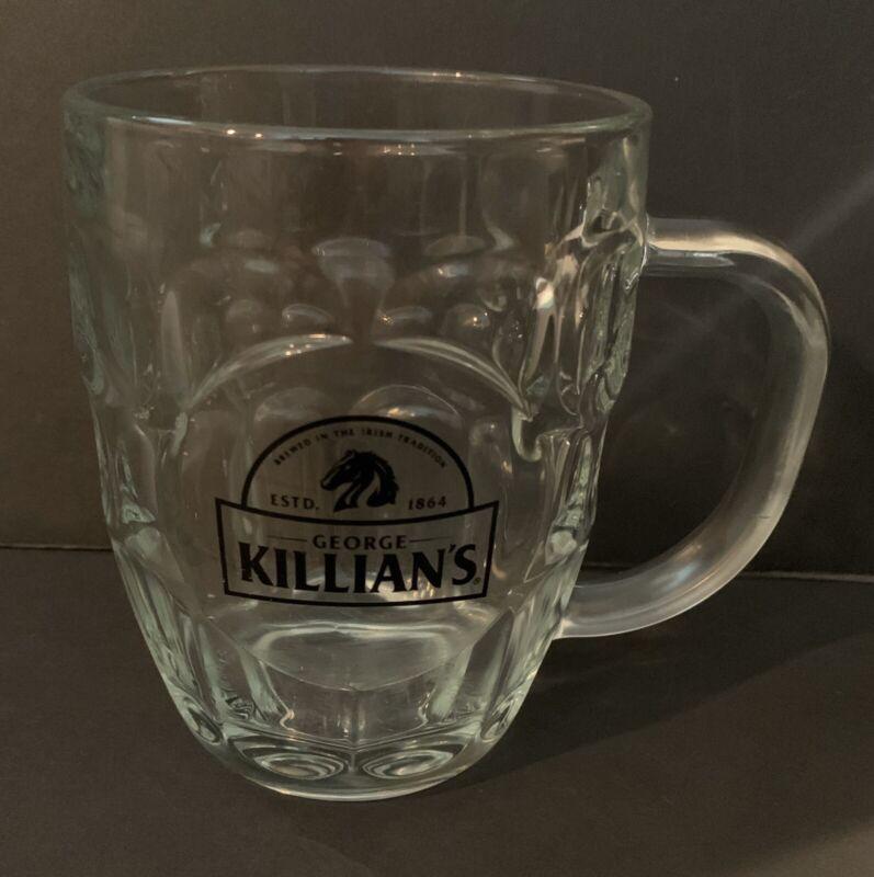 Vintage George Killians Irish Red, Glass Beer Mug, Rare an Collectible