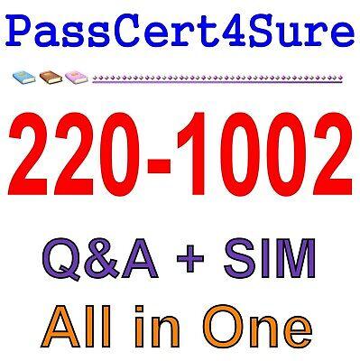 CompTIA A+ Certification : Core 2 220-1002 Exam Q&A PDF+SIM