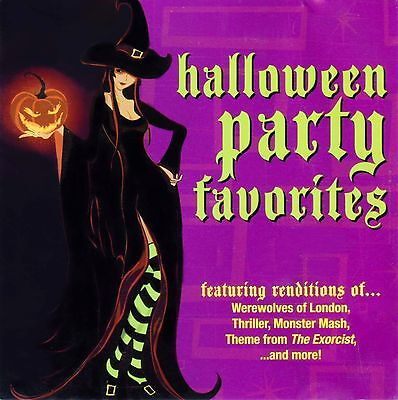 HALLOWEEN Party Favorites CD 12 Spooky Songs for Witches Werewolves and Monsters