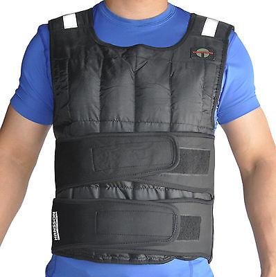 TrainHard DELUXE Gewichtsweste Weight Vest Trainingsweste 10KG mit Reflektoren