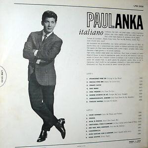 LP PAUL ANKA ITALIANO ORIGINALE RCA PML 10130 ANNO 1963 - Italia - LP PAUL ANKA ITALIANO ORIGINALE RCA PML 10130 ANNO 1963 - Italia