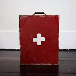Wooden vintage first aid box Katoomba Blue Mountains Preview