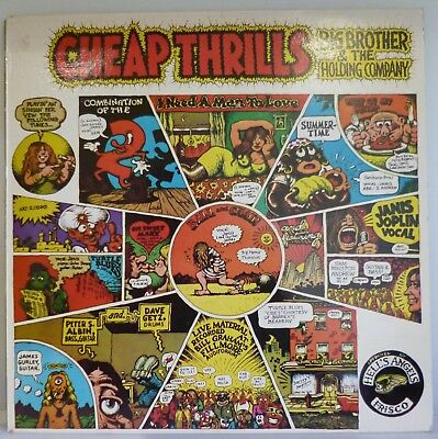 Big Brother And The Holding Company Cheap Thrills 12  Vinyl Lp Cbs 32004 Ex Ex