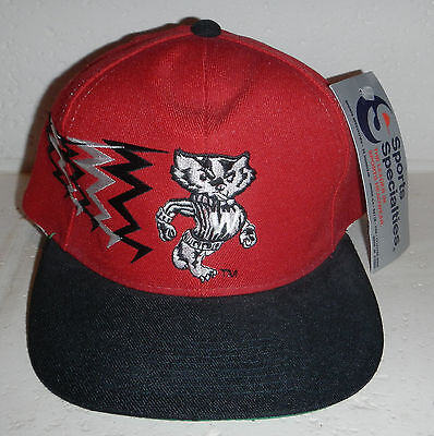Vintage NWT University of Wisconsin Badgers Baseball Hat Cap Sports (University Wisconsin Badger Sports)