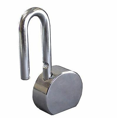 Hawk Tz7342 - 5 In Solid Steel Polish Lock Provide Security Gates Outdoor Sheds