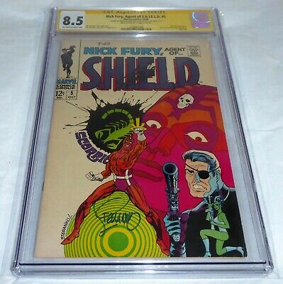 Nick Fury Agent of S.H.I.E.L.D. #5 CGC SS Signature Autograph STAN LEE STERANKO