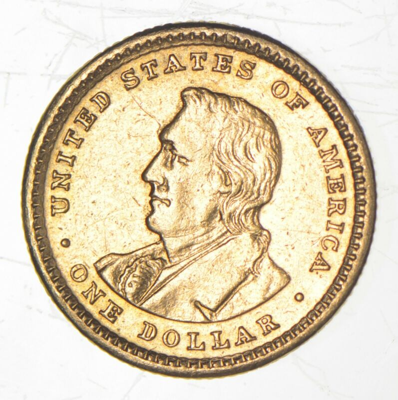 1905 $1.00 Lewis & Clark Expedition Anniversary Gold Coin *9144