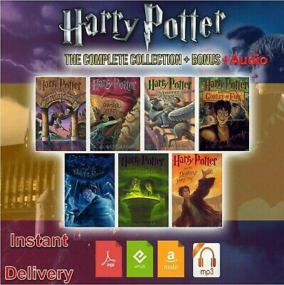 Harry Potter books Complete Collection With Audio + 4 Bonus(PDF, Mobi,epub,mp3 )