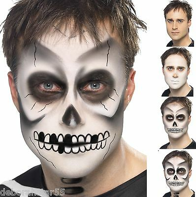 Smiffys Skeleton Makeup Kit Adults Kids Halloween Face Painting How to Pictures