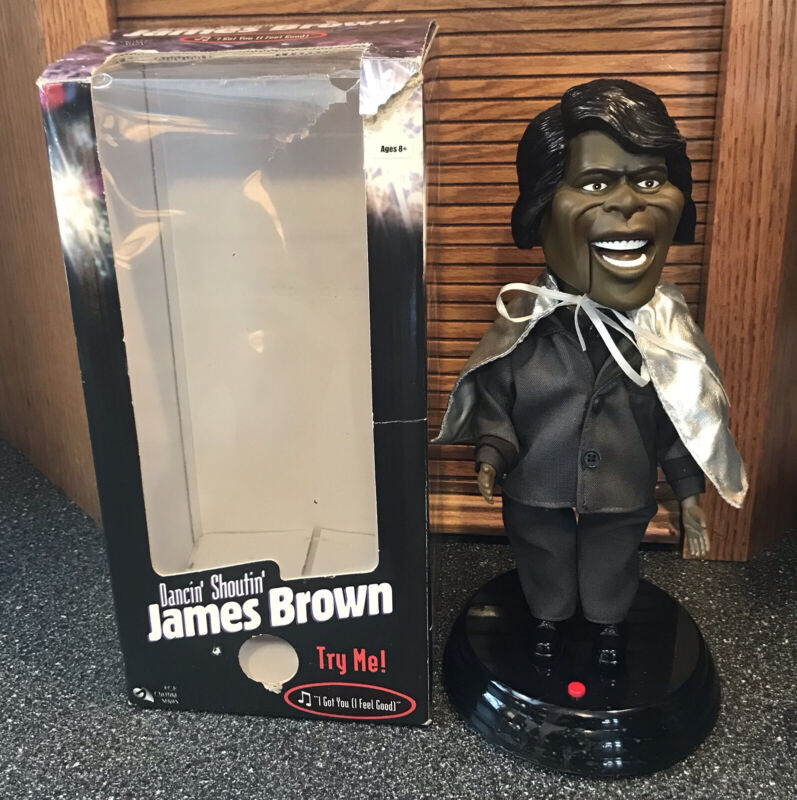 Dancin Shoutin Singing James Brown Electronic Animated Toy  in Box tested works