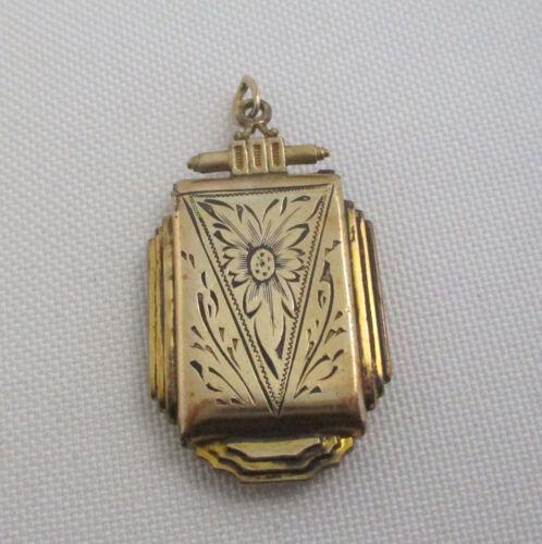 Vintage Engraved Gold Filled Photo Locket
