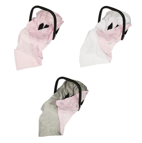 New Baby Pink Bunny Wrap For Car Seat / Travel Wrap / Car Seat Blanket / Wrap