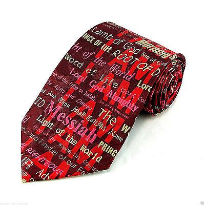 I AM The Christ Men's Neck Tie Religious Jesus Easter Christian Gift Red Necktie - Easter Christian
