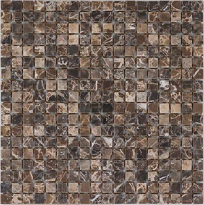 Emperador Braun Marmor (Naturstein Mosaik Marmor Emperador Dark Poliert braun Wand |10Matten|ES-66100_f)