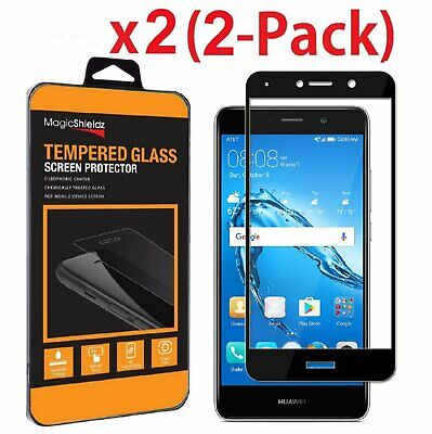 2 Pack Premium Full Cover Tempered Glass Screen Protector for Huawei Ascend XT2 Cell Phone Accessories