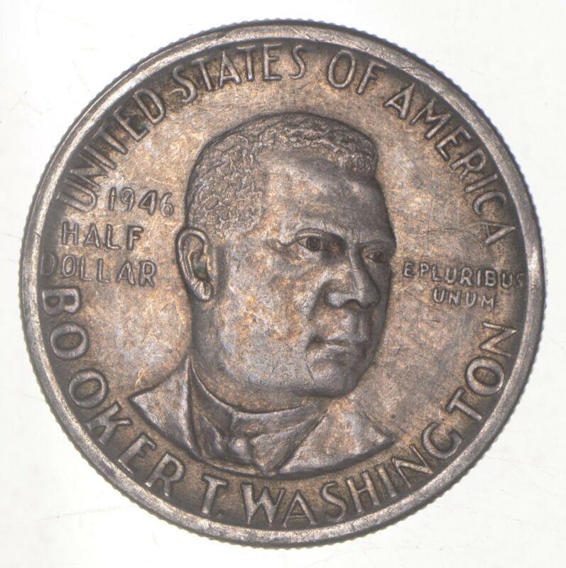1946 Booker T Washington - US Commemorative Half Dollar - 90% Silver