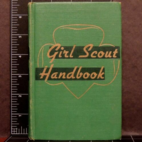 1947 Girl Scout Handbook 1952 ed good cond clean pages outdoor camping adventure