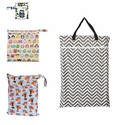 1PC S M L XL One zipper, Tow zippers Menstrual Pads Wet Bag Cloth Diaper Wet Bag