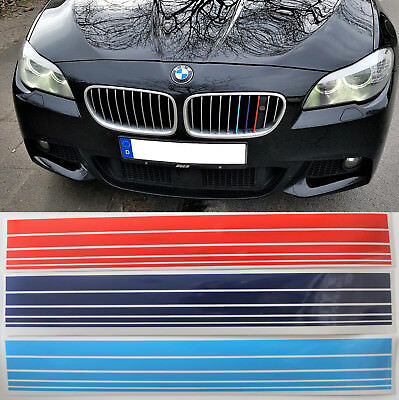 BMW M Streifen Aufkleber Nieren M Power Optik Sticker 200mm e46 e61 e90 f61 e39