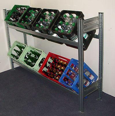 Breit 1,56m für 8-10 Kisten Getränkekistenregal Stecksystem stabil stehend FREI