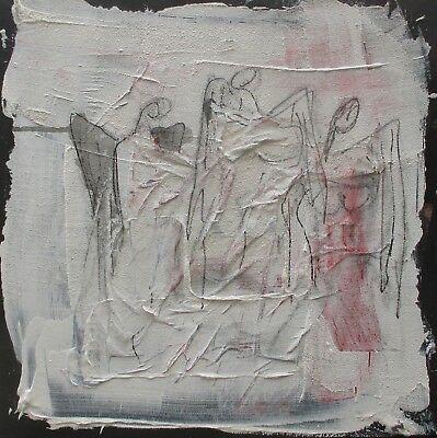 Engel 40x40 Sonja Zeltner-Müller Acryl/LW Kunstmüllerei Düsseldorf