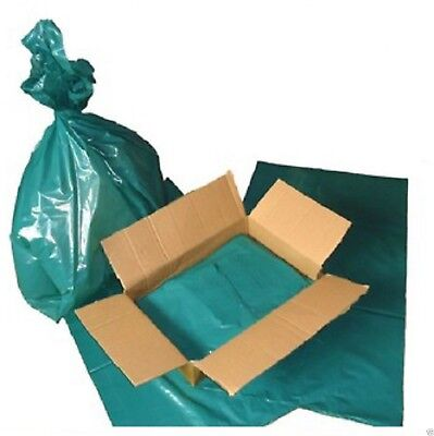 100 x COMPACTOR SACKS HEAVY DUTY STRONG REFUSE / RUBBISH GREEN BAGS (22X40X46