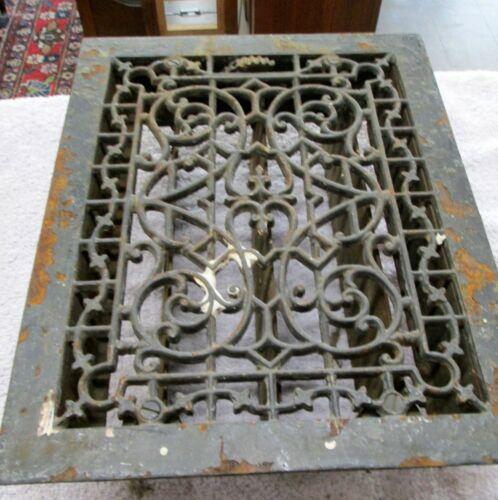"""Cast Iron Victorian Floor Grate Heat Register 9"""" X 12"""""""