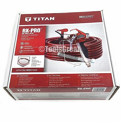 New Titan Rx-pro Airless Paint Sprayer Gun And Hose Kit 0538022