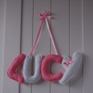 Personalised name wall door banner boy/girl baby child nursery PRICE PER LETTER