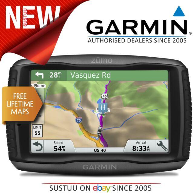 Garmin Zumo 595LM Motorcycle GPS SatNav FREE UK Europe Lifetime Maps Update NEW