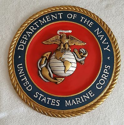 Department of the Navy US Marine Corps Decor Wall Plate Semper Fi 12x12x1/2