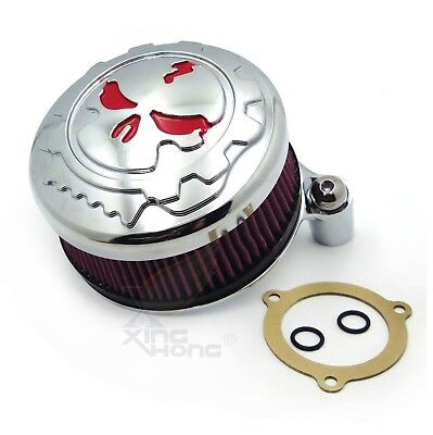 Motorcycle Chromed Air Cleaner Intake Filter System Kit For Harley Softail 16-up