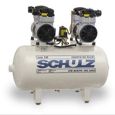 Schulz Oilless Csd-1830 Medical Air Compressor - 3hp 120psi