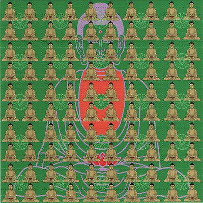 BUDDHA GREEN HIGH QUALITY BLOTTER ART BY KEVIN BARRON