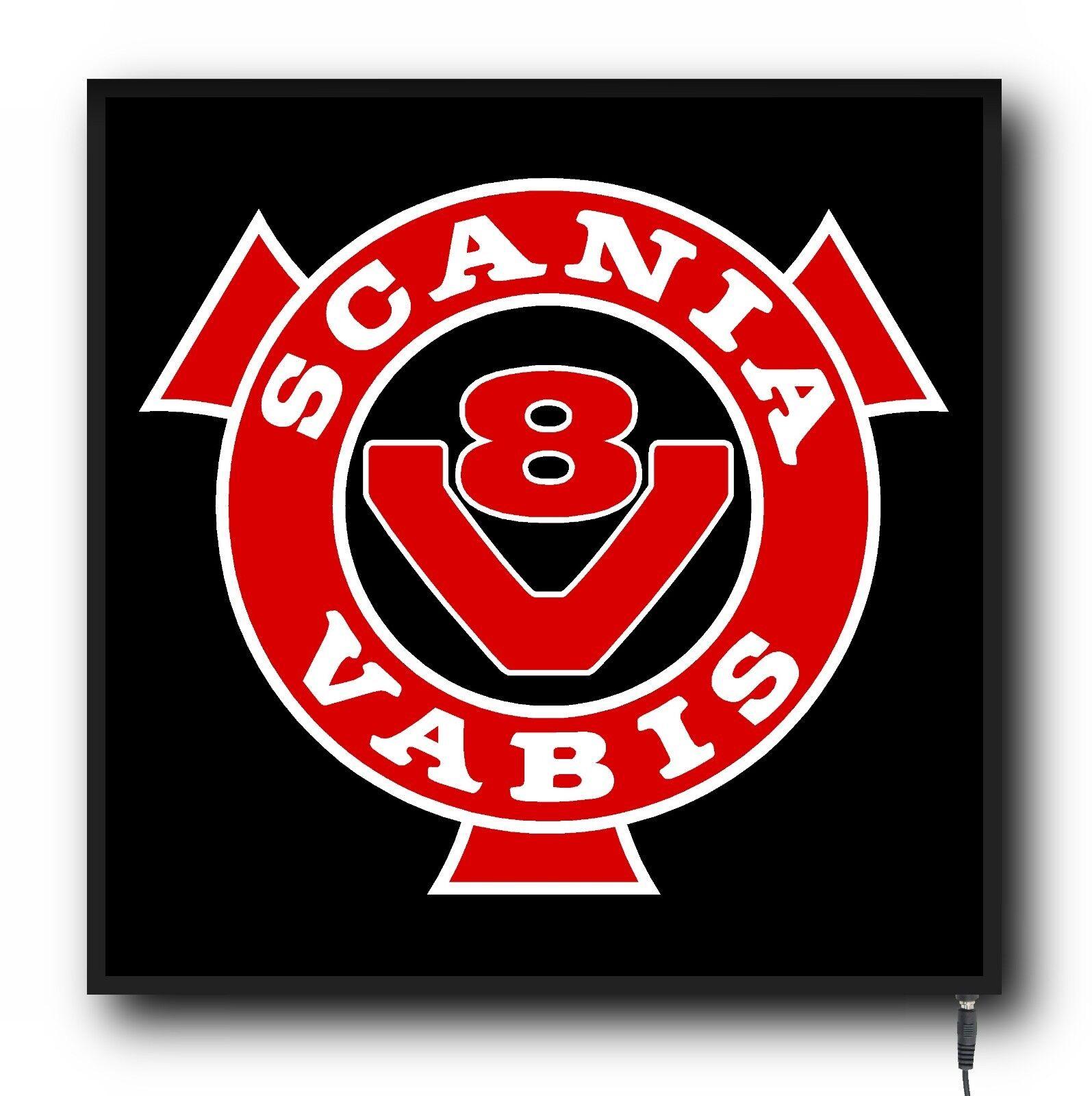 24 V Cabin Interior Del Light Plate Scania Vabis V8 Logo