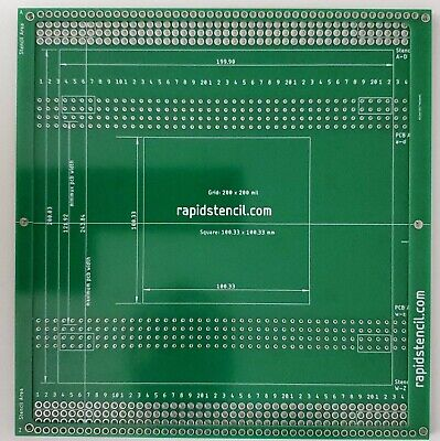 Solder Paste Printer Pcb Smt Stencil Printer Manual Rapidstencil Simple 20x20