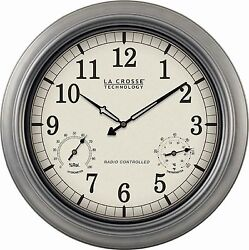 WT-3181P La Crosse Technology 18 Indoor / Outdoor Atomic Wall Clock Refurbished
