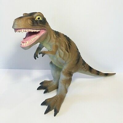 """T -Rex Dinosaur Toys R Us Maidenhead Large Rubber Figure Toy 27"""" Long, #T1817"""