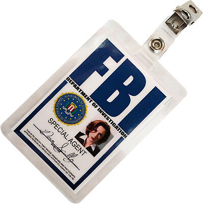 X FILES Dana Scully FBI ID Badge Name Tag Card Laminate for Costume Cosplay XF-1