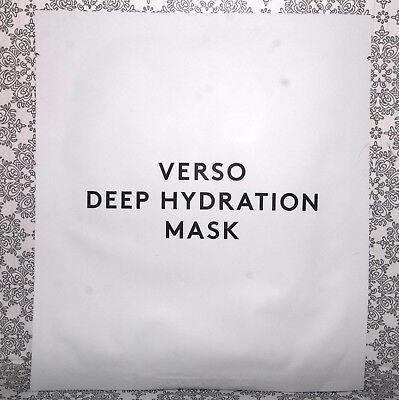 VERSO deep hydration mask Tuchmaske moisturizing hydrogel facial prolonged NEU