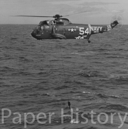 US Navy SH-3D Sea King Helicopter ASW 8x10 Photo Anti Submarine MAD Gear Sonar