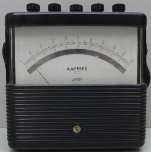Vintage Weston 901 Amp Meter 0-20 DC Amperes