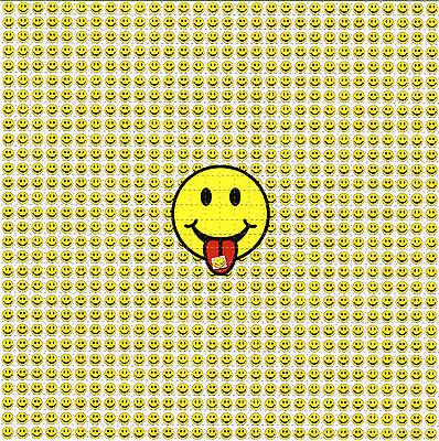 SMILE TAB FACES LSD BLOTTER ART Perforated Sheet acid free paper ACID art
