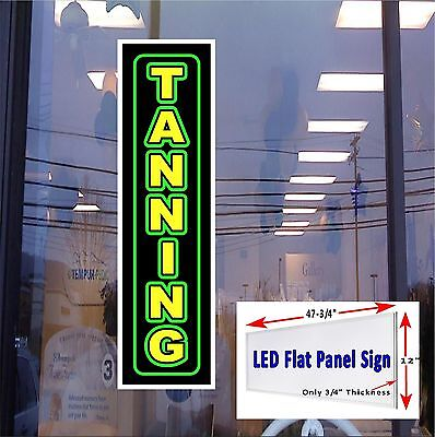 Tanning New Led Flat Panel Light Box Window Sign 48x12 All Metal Construction