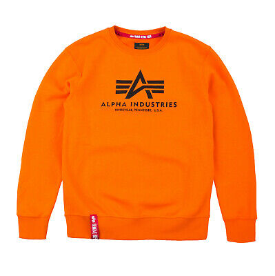 ALPHA INDUSTRIES Basic Sweater | Flame Orange 417 (178302) Logo Sweatshirts