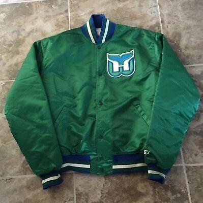 Hartford Whalers Vintage Throwback Satin Starter Jacket Size X Large! NWOT Rare