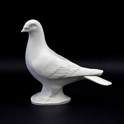 9942548-ds Porcelain Figurine Pigeon Bisque Wagner & Apel 21x10x19cm