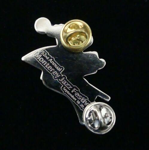 "Christmas Jewelry Pin MONTEREY JAZZ FESTIVAL 2020 Gold Tone 2"" USA SELLER"